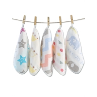 纱布毛巾婴儿口水巾用品宝宝洗脸巾方巾手帕围嘴