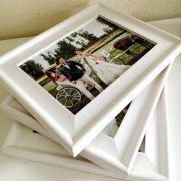 实木摆台相框大欧式相框5/6/7/810寸4开8k24寸婚纱海报挂墙画框
