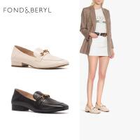 Fondberyl/菲伯丽尔春季专柜同款英伦风一脚蹬乐福鞋女单鞋FB01111037