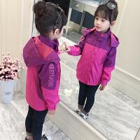 女童外套秋装2018新款韩版儿童洋气上衣中大童春秋夹克童装冲锋衣