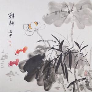 柳青 ,雅趣  50*50cm