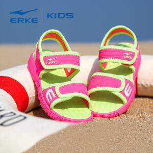 【全场!每满100减50】鸿星尔克童鞋儿童运动鞋男童鞋女童鞋儿童鞋男女童凉鞋 夏季品牌儿童鞋露趾清凉透气沙滩鞋