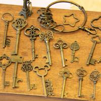 复古铜钥匙挂件管家婆大号钥匙扣 zakka复古配件古铜钥匙DIY手工配件