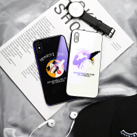 苹果x后壳玻璃钢化 6sp个性创意7p蓝光镜面iphone8plus手机壳 苹果6/6s 国宝