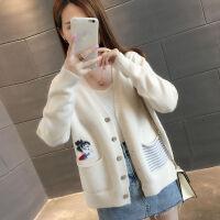 毛衣外套女秋冬季2019韩版女装短款针织衫开衫外搭上衣女秋