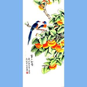 当代工笔画画家,北京九久书画收藏文化交流中心画家,北京美协会员,北京著名工笔画画家凌雪(事事如意)