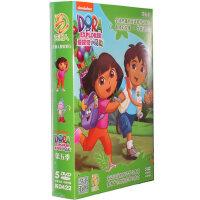 新版朵拉dvd高清碟片 爱探险的朵拉第5季 5DVD儿童双语动画光盘