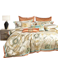 伊迪梦家纺 高档婚庆床单床盖床罩式四六八十件套 欧美式豪华样板房别墅房床上用品多件套GZ213