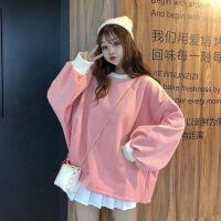 秋冬女装韩版原宿风宽松显瘦长袖外套网红上衣学生加绒加厚卫衣女