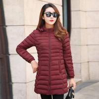 秋冬季外套女轻薄棉袄中长款韩版修身大码棉衣女式中年妈妈装外套