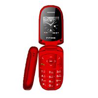 [礼品卡]老人手机 福中福F633D 老人手机 女士翻盖手机双卡双待QQ蓝牙照相拍照多色手机