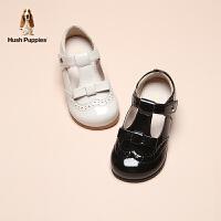 暇步士Hush Puppies童鞋女童皮鞋2021春季新款中大童软底儿童皮鞋儿童优雅单鞋