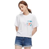 【网易严选秋尚新 爆款直降】几何森林 女式莫代尔棉印花T恤