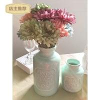 家用字母陶瓷花瓶小清新装饰花客厅茶几绣球花艺套装插花扶郎花假花SN9504