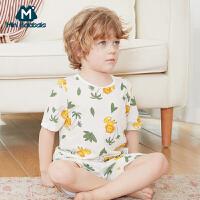 【129元任选3件】迷你巴拉巴拉男童女童家居服2020夏新款男女宝宝透气纱布家居套装
