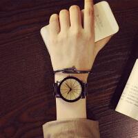 韩版学生时尚潮流行情侣手表一对钢带男女士创意非机械石英表