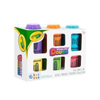 Crayola绘儿乐 A1-1006 蜡笔型6色装创意彩泥 当当自营