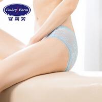 安莉芳女士内裤性感蕾丝网纱透明棉质底裆低腰三角裤EP1413