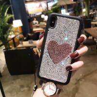 苹果X手机壳潮牌水钻iphone8plus全包硅胶套7p防摔6s挂绳韩国新款