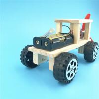越野车学生科技小制作小发明电动创意科学实验玩具diy手工材料包 木质款成品 不涂色
