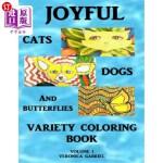 【中商海外直订】Joyful Cats, Dogs and Butterflies Variety Coloring