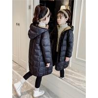 儿童轻薄棉服2018新款韩版冬季厚款中长款连帽外套