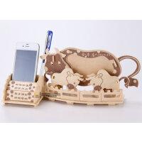 3d木质木制立体拼图智力玩具diy动物拼图拼插模型儿童礼物金牛座