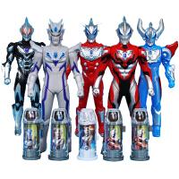 罗布奥特曼玩具水晶变身器陀螺战斗仪召唤器布鲁罗索变形皇者之剑套装儿童玩具银河男孩