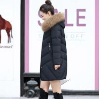 羽绒服女中长款牌2019韩版修身显瘦时尚大毛领女外套