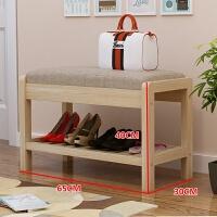 实木进门口换鞋凳鞋柜创意多功能鞋架门厅凳家用简约现代穿鞋凳小