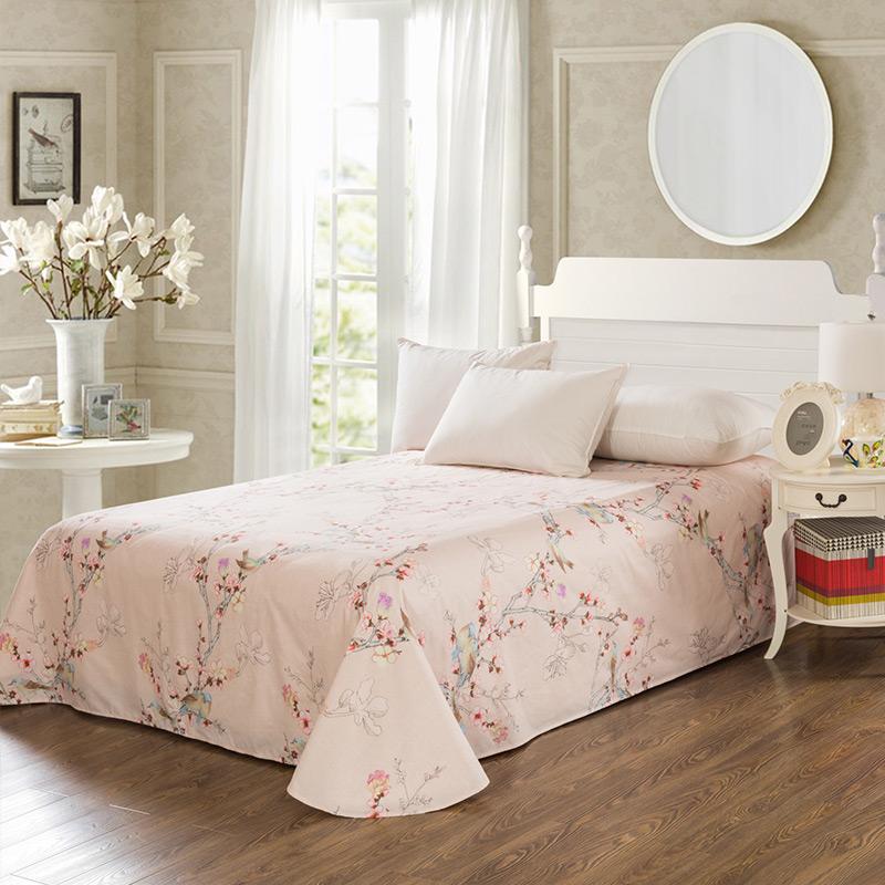 当当优品 纯棉斜纹床上用品 床单250*230cm 岁堤春晓当当自营 100%纯棉 不易褪色 0甲醛 透气防潮 大尺寸