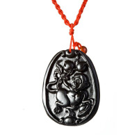 梦克拉 砭石项链吊坠 十二生肖吊坠生肖猴