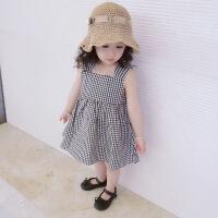 童装夏装女童背心裙夏季连衣裙儿童公主裙小女孩裙子宝宝格子童裙