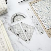 晨光0437简系列套尺 办公尺 学生绘图测量文具套装四件套