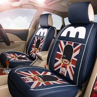 汽车座套四季通用亚麻坐垫奥迪A4LA6LQ3Q5A3夏季全包座椅套女