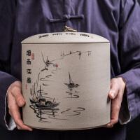 茶叶罐陶瓷存茶罐收纳盒大号醒白茶叶盒家用