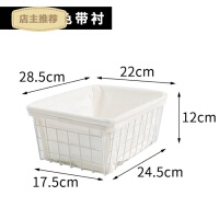 日式铁艺化妆品收纳筐大容量美妆收纳盒简约桌面置物框面膜收纳篮SN7191 哑光