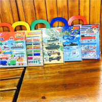 大号儿童情景场景手提包汽车公主女孩换装海洋动物纸游戏反复贴画