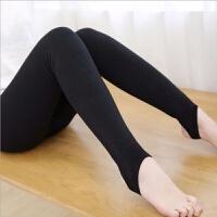 冬季黑色加绒打底裤竖条纹显瘦修身连裤袜踩脚一体裤女 黑色踩脚 加绒加厚 均码 90-140斤