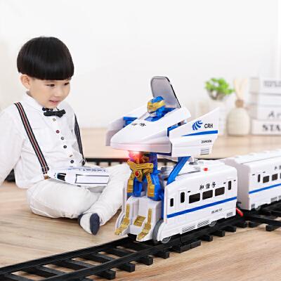 越诚托马斯变形玩具小火车拼装轨道儿童高铁和谐号男孩礼物