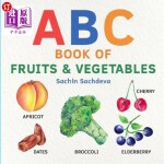 【中商海外直订】ABC Book of Fruits & Vegetables: Early Learning Wat