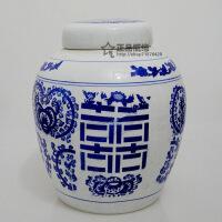 景德镇陶瓷储物罐青花瓷茶叶罐中药罐药材罐糖缸瓷器