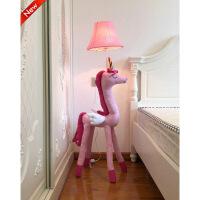 卡通台灯创意可爱儿童房卧室灯公主女孩落地灯温馨动物造型装饰灯 皮质款
