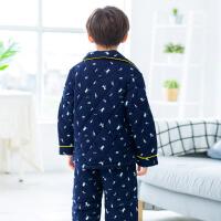 儿童冬季睡衣保暖三层夹棉小孩子男孩冬天男童家居服