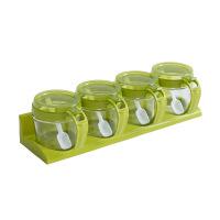 厨房储物调料盒子家用简约玻璃调味瓶罐佐料盐罐套装器皿创意糖罐