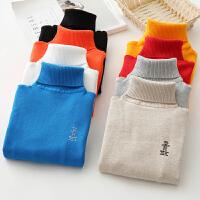 儿童毛衣男童女童秋冬款针织打底衫棉套头高领宝宝毛线衣