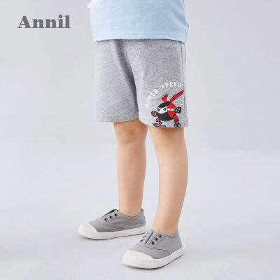【159元3件】安奈儿童装男童中裤2020夏季新款小童时尚活泼个性运动中裤