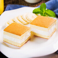 香蕉牛奶蛋糕500g/约18袋 整箱早餐奶油夹心网红面包糕点心休闲零食