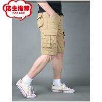 夏季户外男士休闲短裤工装裤直筒工作裤沙滩中裤结实耐磨宽松大码
