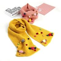 儿童冬季保暖宝宝毛线围巾韩版糖果色针织围巾厚款围脖